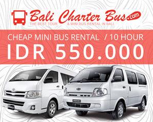 Sewa Bus / Minibus Murah di Bali, Mulai Rp.550.000 / 10 Jam